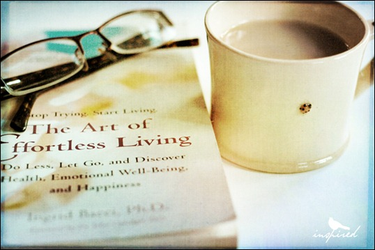 effortless-living book-glasses tea cup
