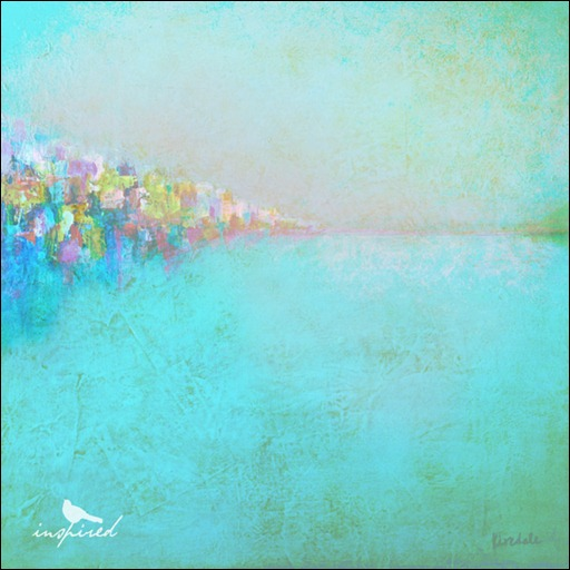 painting, acrylic, abstract, turquoise, sea, ocean, sky, texture