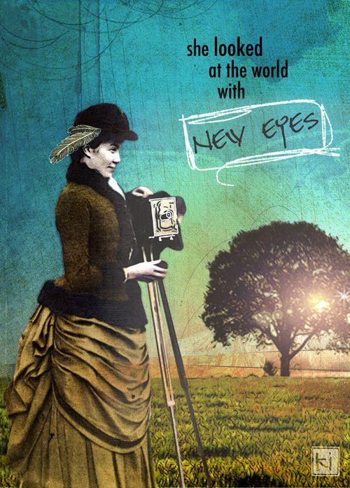 she art, inspired, digital art, woman, vintage, seeing, new eyes