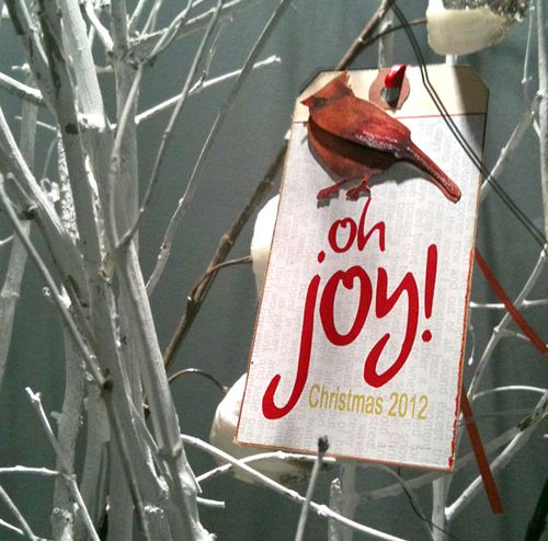 Oh-joy-Christmas, card, manilla, tag