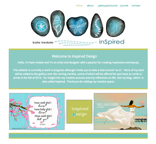Inspired, design, kateiredale, website